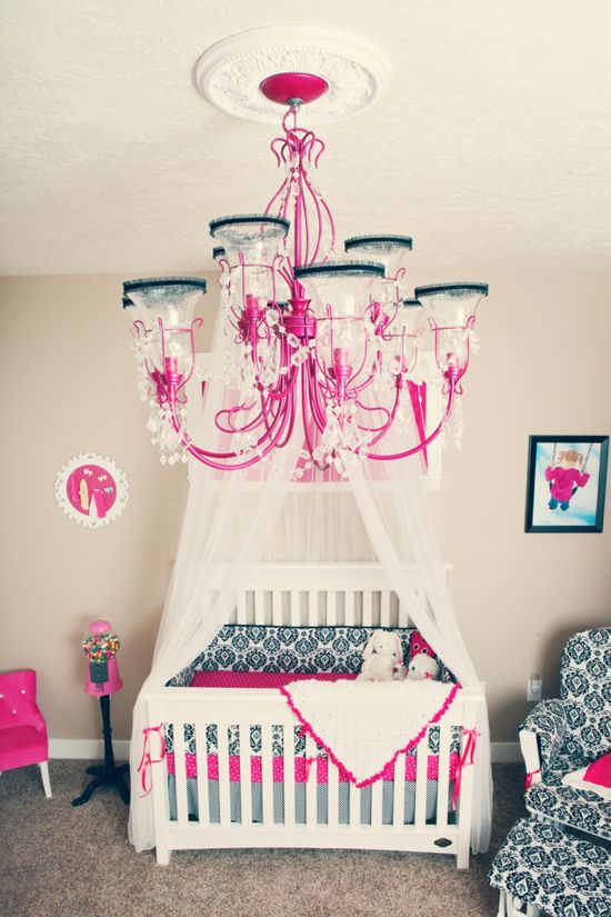 baby girl room- love the colors!