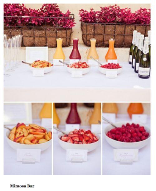 Mimosa Bar. Love this idea!