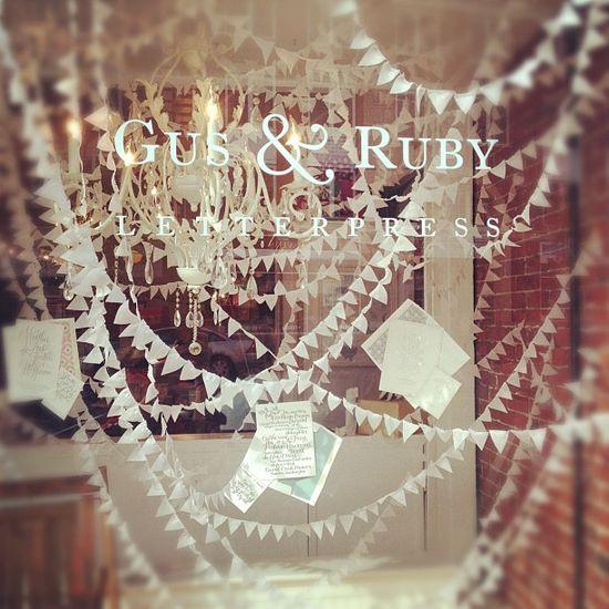 wedding window by Gus & Ruby Letterpress