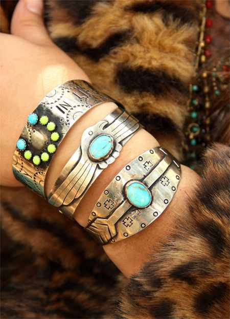 silver bracelets #turquoise