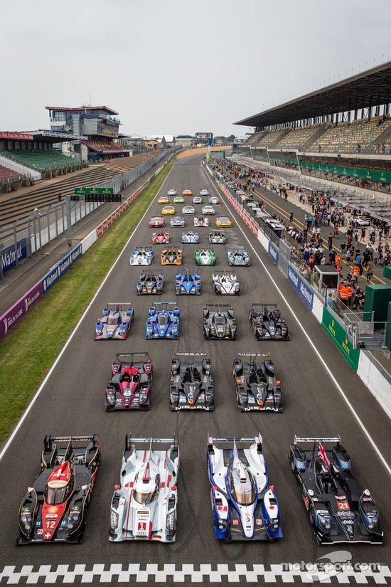 Twitter / motorsport: Le Mans car group shot.