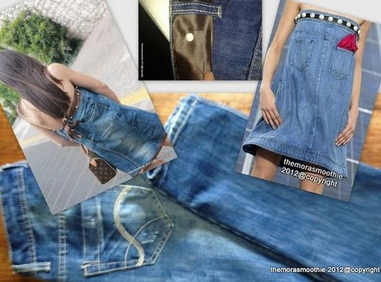 Outfit with my DIY denim dress inspired by @CHANEL ! Using Shell Pearl. DIY handmade craft idea