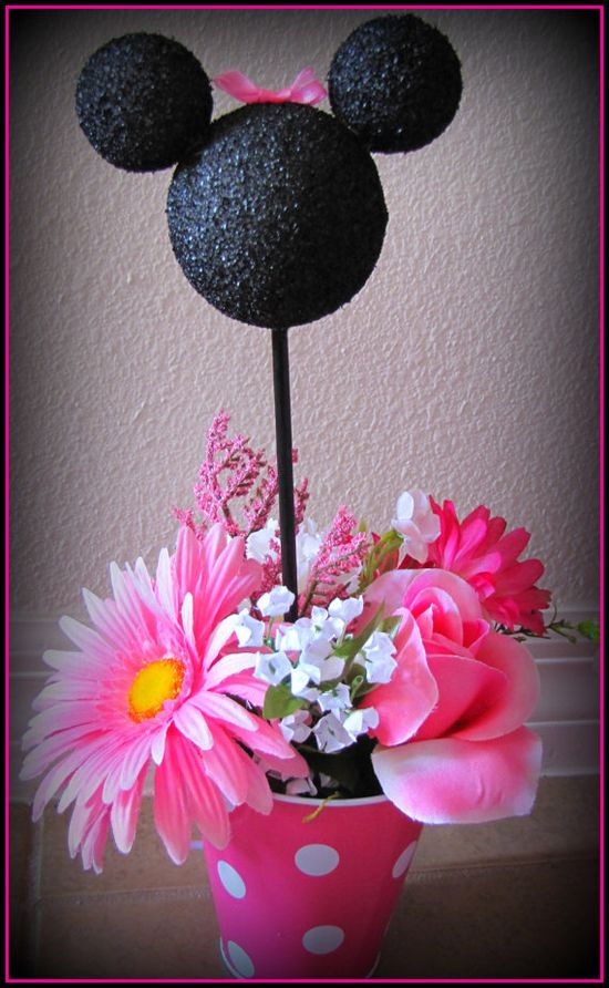 Minnie Mouse Hot Pink Party Centerpiece by eryacah on Etsy