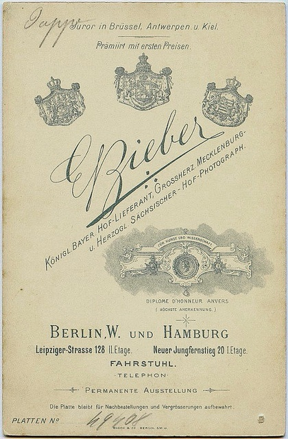 cabinet card ? Deutschland, Berlin und Hamburg by Viktoria Luise b, via Flickr