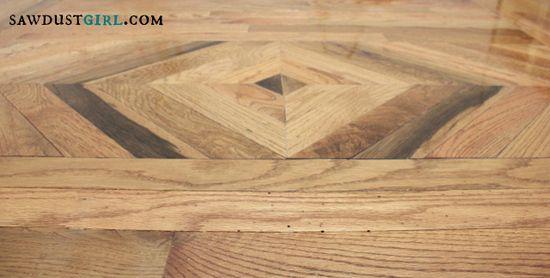 DIY wood floor inlay
