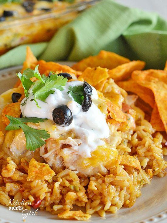 Cheesy Chicken Doritos Casserole