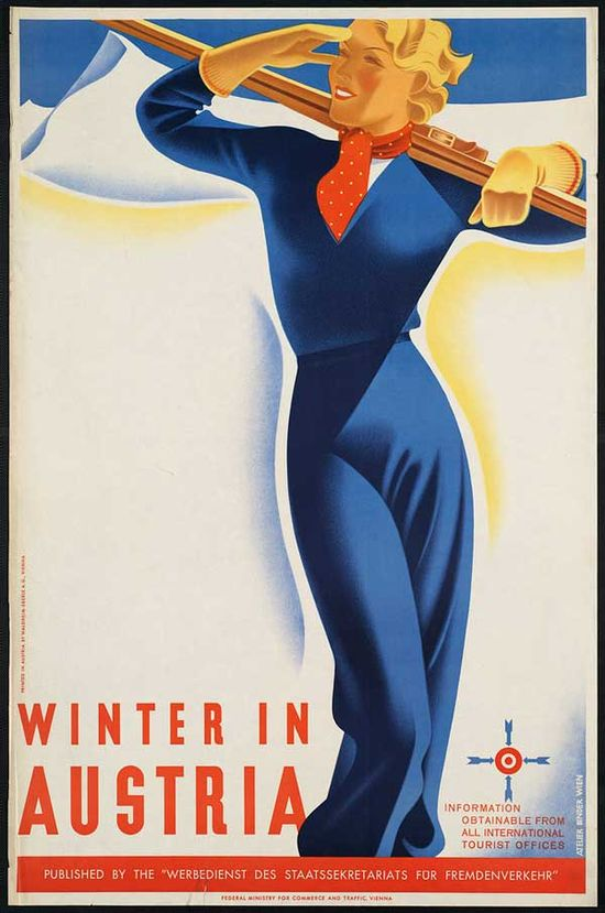 20´s travel poster Austria