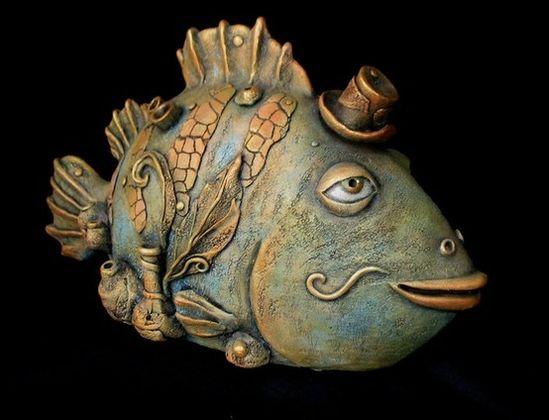 "Clay fish. By Nataliya Uliyanova   Source"" liveinternet.ru"