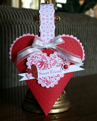 Stampin' Up!  Petal Cone  Krystal De Leeuw  Valentine Treat Holder