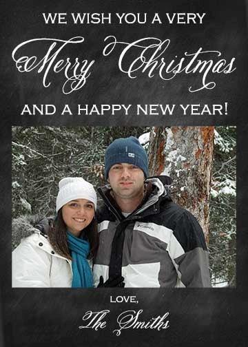 Chalkboard Christmas Card design  add your photo $12