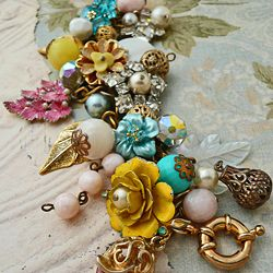 salvaged vintage jewelry, up-cycled to new.