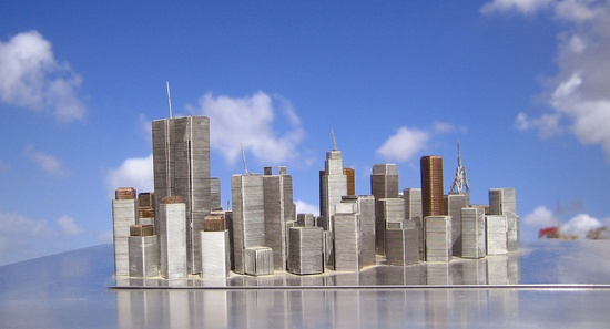 How many staples does it take to build a model of New York City?