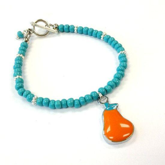 Children's Turquoise Bracelet Silver by prettylittlepretties, $12.00