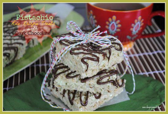pistachio rice krispy treats