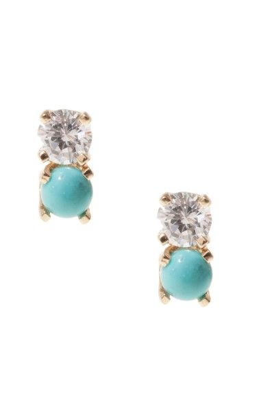 jPoupette Diamond Stone Earrings