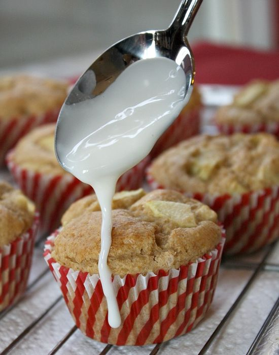 Apple Fritter Muffins #fall