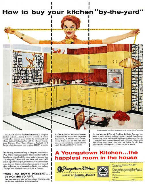 How to buy your kitchen by-the-yard! #vintage #1950s #interiors #design