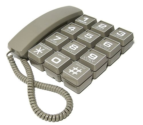 Webcor ZIP Jumbo Button Telephone from the '80s