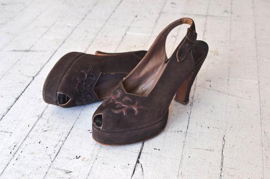 1940s platform heels