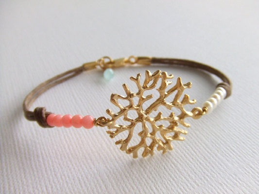 coral bracelet $21.00  love this