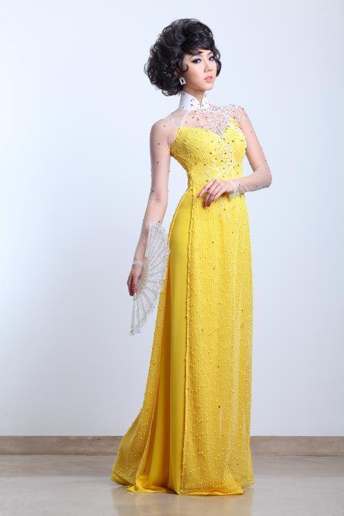 Beautiful yellow ao dai