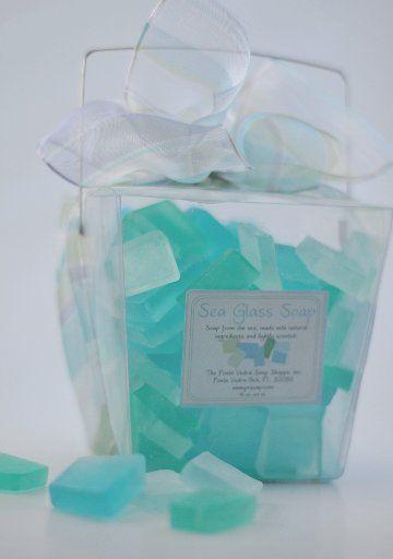 Make sea glass soap