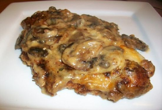 Chicken with Mushrooms and Mozzarella