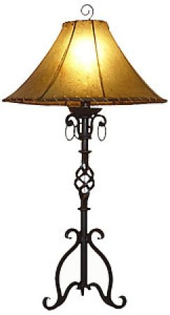 Hand Made Wrought Iron Table Lamp