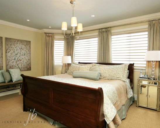 Aurora bedroom designed by Jennifer Brouwer Design. #jbd #intdesign #bedroom #customdesign