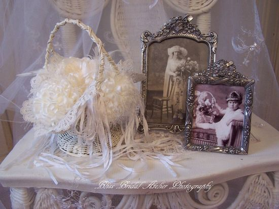 Flower Girl Basket & Vintage Wedding Photos