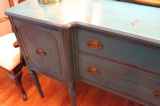 start to finish, distressing and antiquing furniture by B. Inspired!