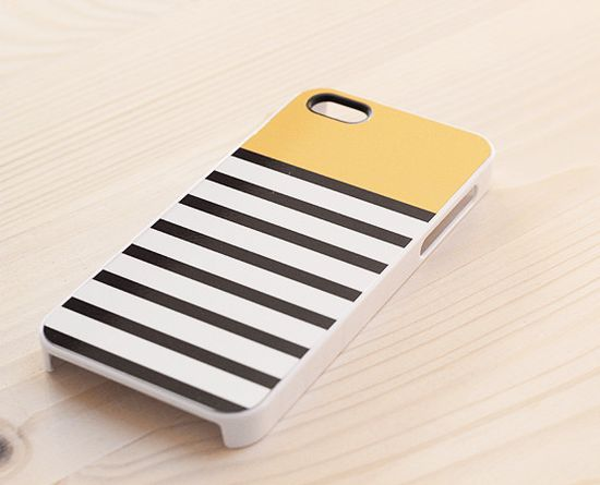 striped iphone case - yellow and black & white  #iphone #case #iphonecase #yellow #stripediphonecase