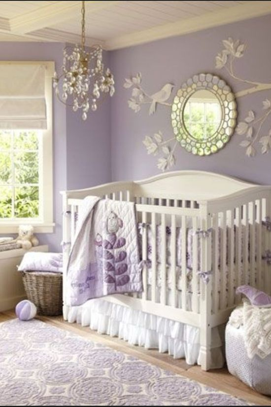 Perfect baby girl nursery.