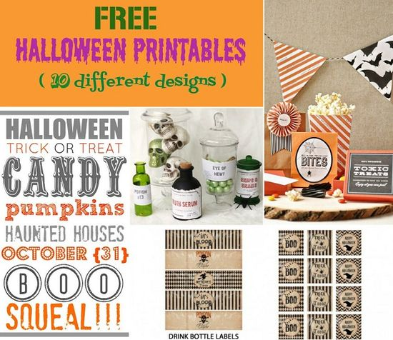 10 Free Halloween Printables designs