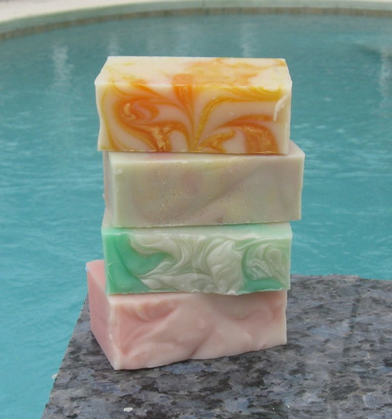 4 Handmade Soap Bars Raspberries Sweetgrass by countrycottagesoap, $16.99