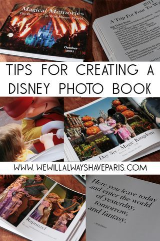 Tips for creating a Disney Photo Scrapbook