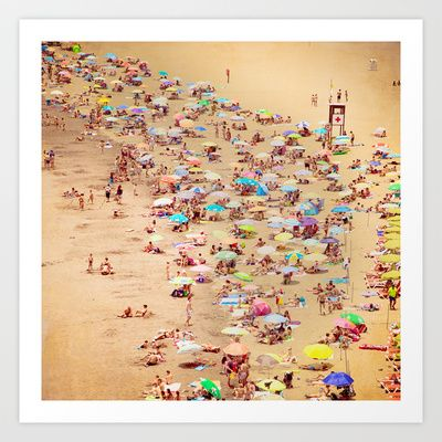 The Beach Art Print by Maite Pons - $18.00