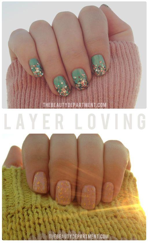 Glitter nails for Spring
