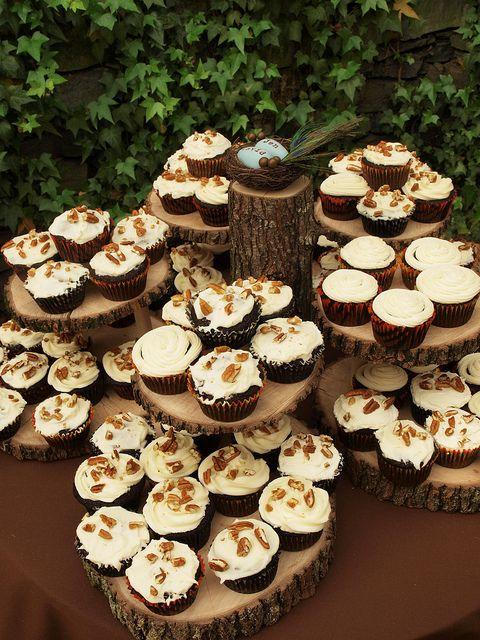 Wood cupcake platforms