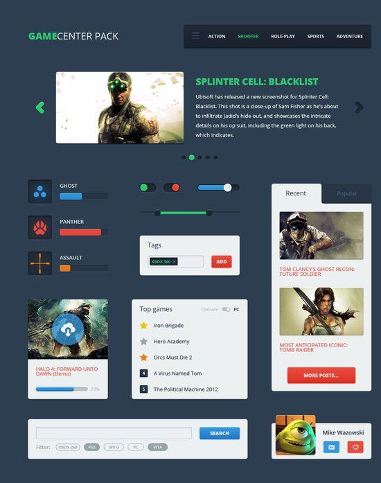 75+ Latest Free UI designs PSD