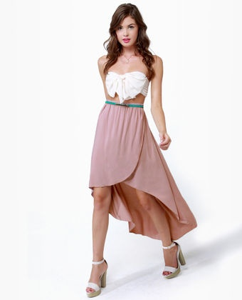 Herald and Mauve High-Low Skirt