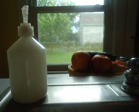 homemade natural liquid soap by the gallon! Amazing! Just made some with a bar of natural Amish soap I purchased (out of a bag of 6 bars) for 1.50! So I have a gallon of natural soap I made for 25 cents!!!!