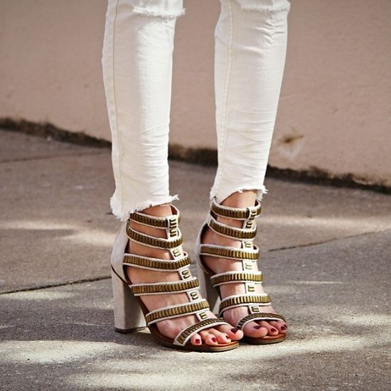 The Harper Metal Heel and Destroyed Ankle Skinny make a great pair.