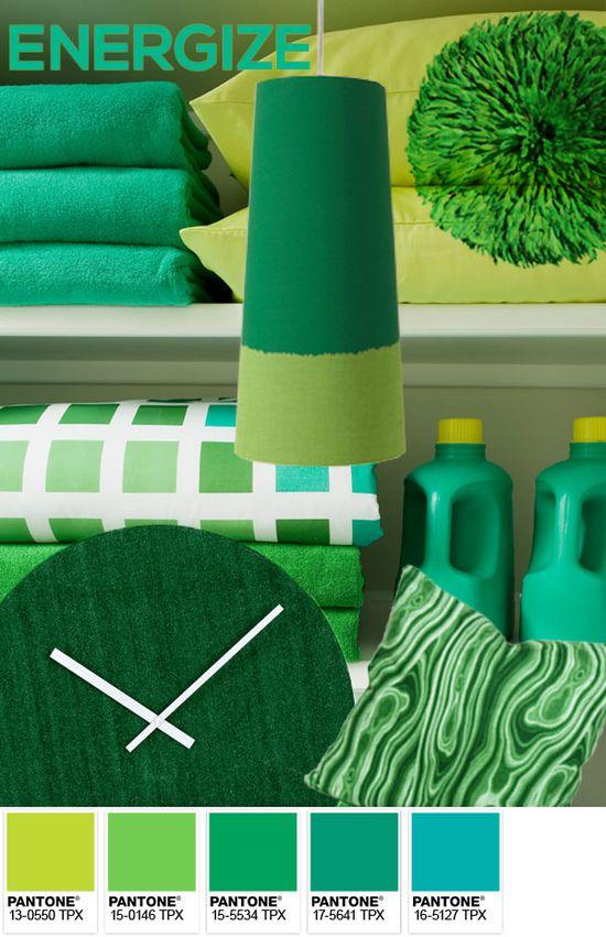 Pantone 2013 #ColoroftheYear: Emerald - Energize Palette