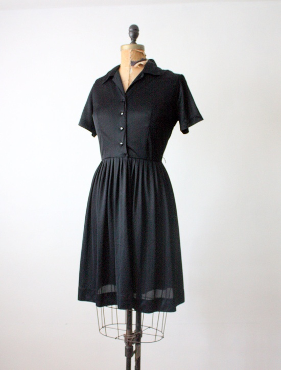 1950s black dress
