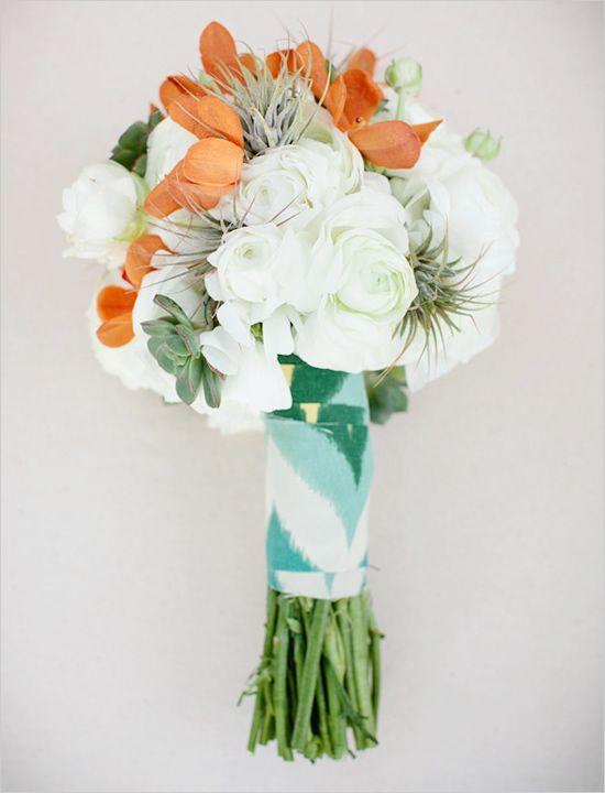 chevron wedding bouquet