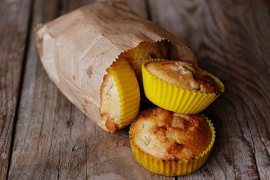 Rhubarbs and white cholocate muffins