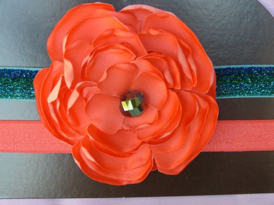 Handmade Fabric Flower HeadbandLittle Girls/Baby by PrettyColleen, $10.00