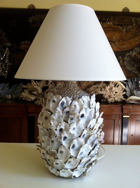 Oyster Shell Table Lamp by LaDolfina on Etsy, $325.00