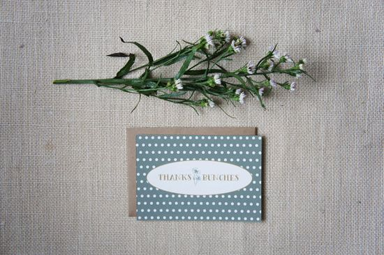 Rustic Garden Polka Dotted Thank You Cards by DawnCorrespondence